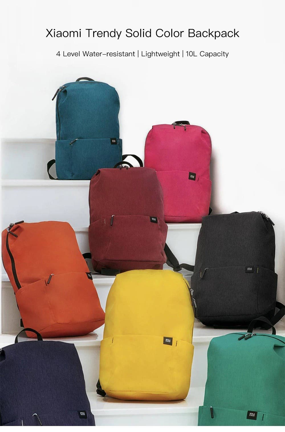 Xiaomi Trendy Solid Color Backpack