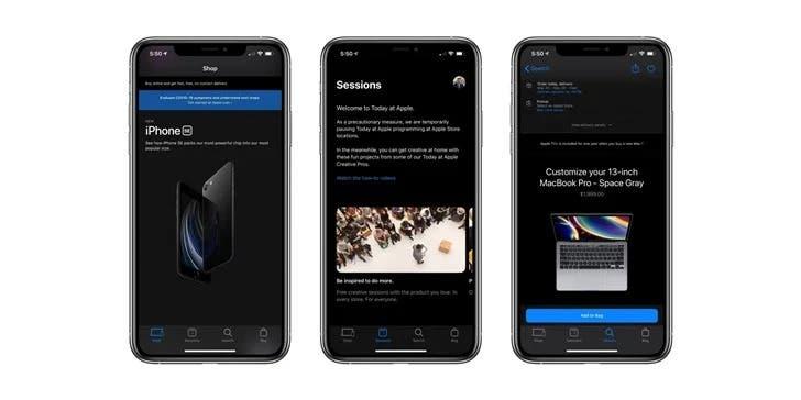 Apple Store Dark Mode