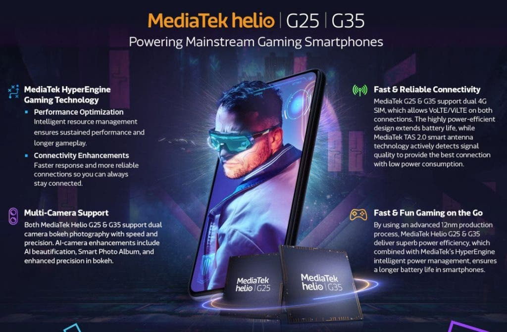 MediaTek Helio G35 and Helio G25