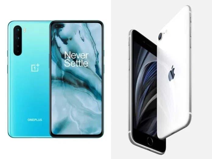 OnePlus Nord vs iPhone SE