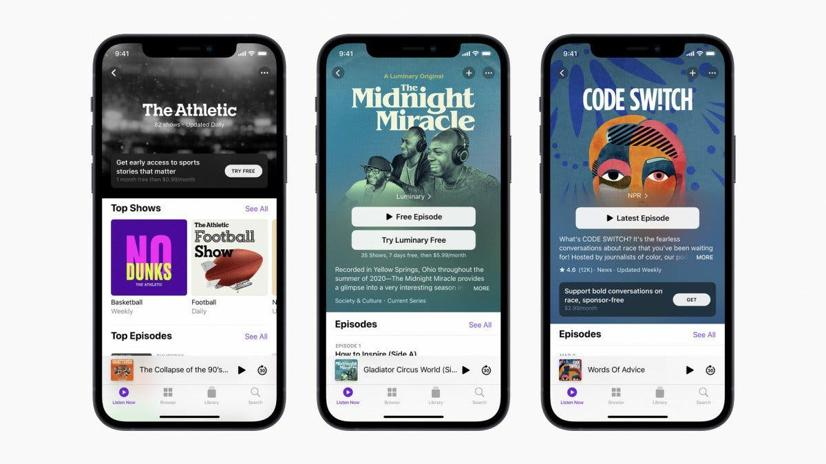 Podcasts Subscriptions